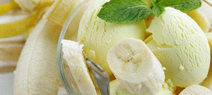 آيس كريم الموز